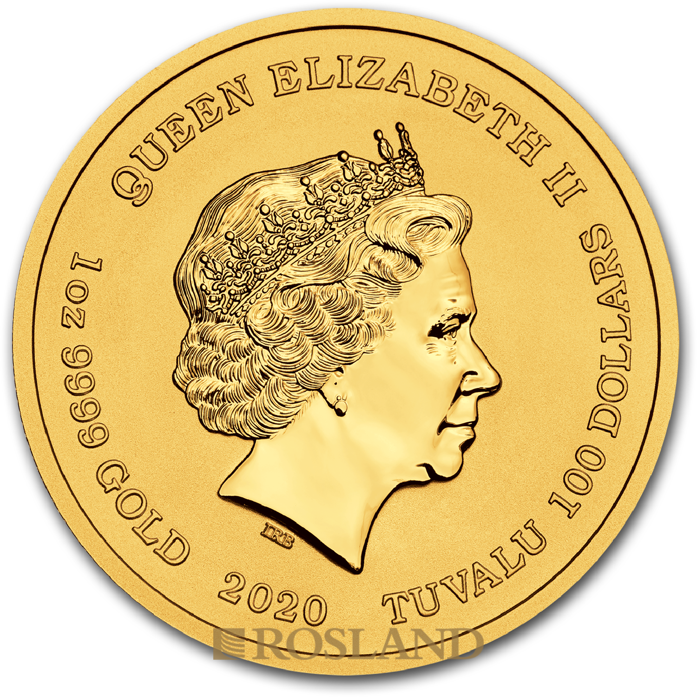 1 Unze Goldmünze Tuvalu Simpsons Homer 2020