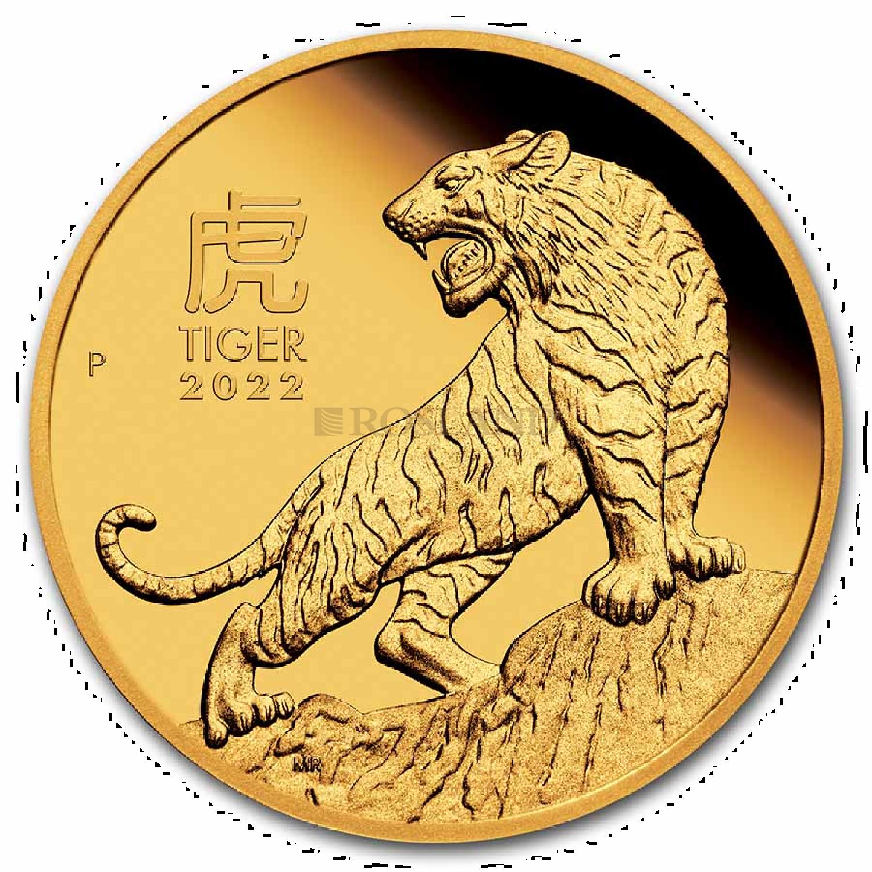 1 Unze Goldmünze Lunar 3 Tiger 2022  PP (Box, Zertifikat)