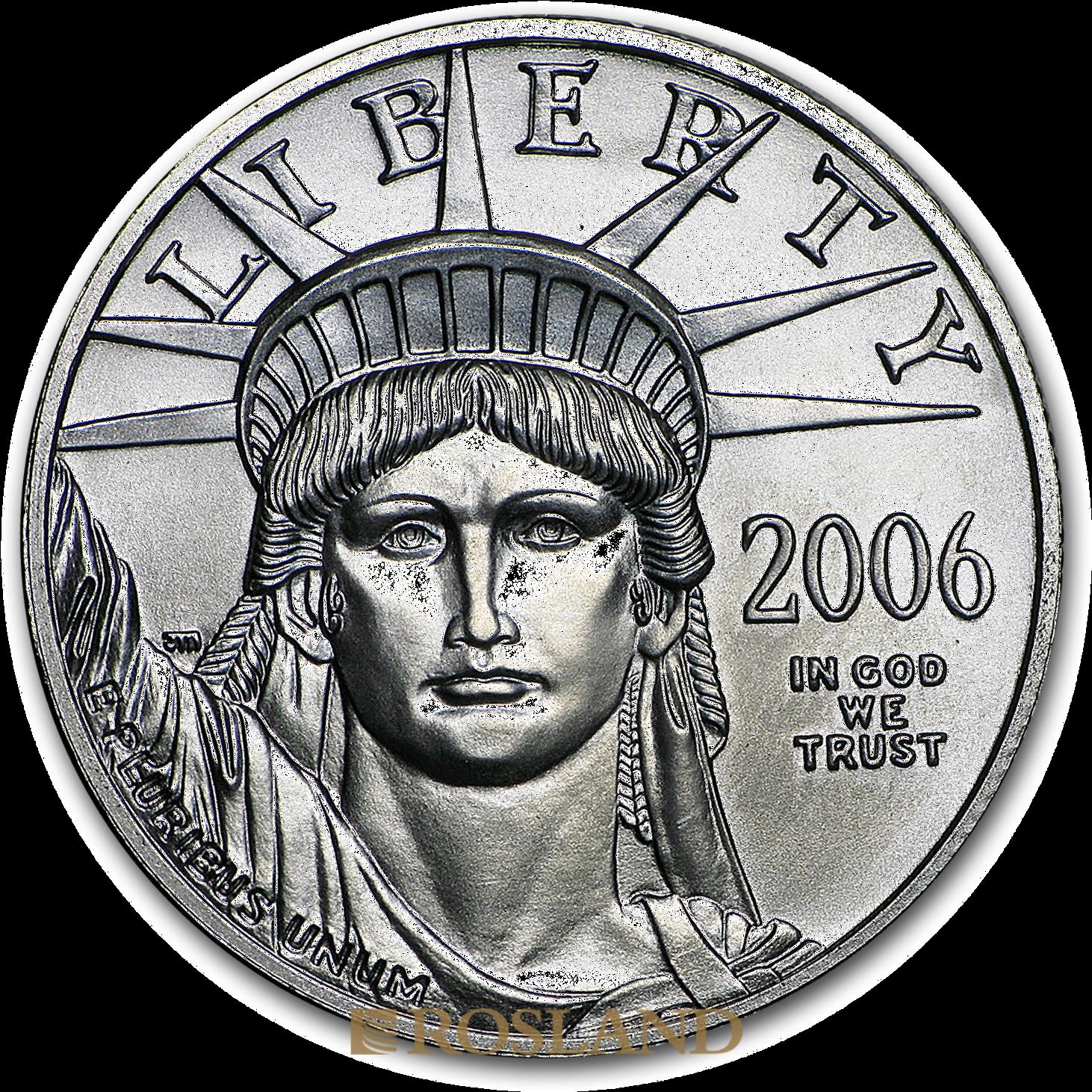1/2 Unze Platinmünze American Eagle 2006
